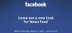 Facebook invito News Feed