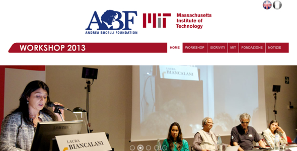 Andrea Bocelli Foundation & Massachusetts Institute of Technology: sito per Workshop 2013