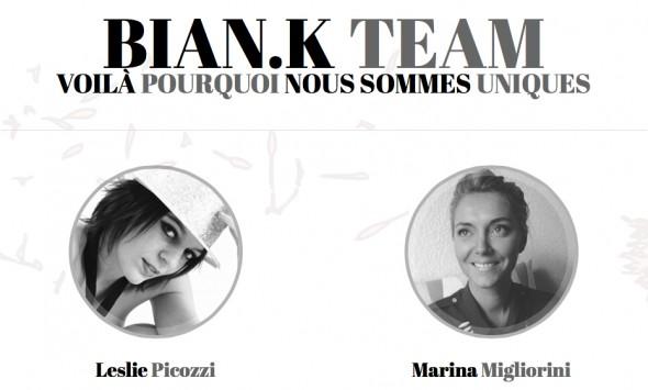 Bian.K team: Leslie Picozzi e Marina Migliorini